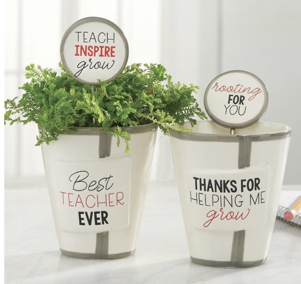 Teacher Pot & Plant Marker Set