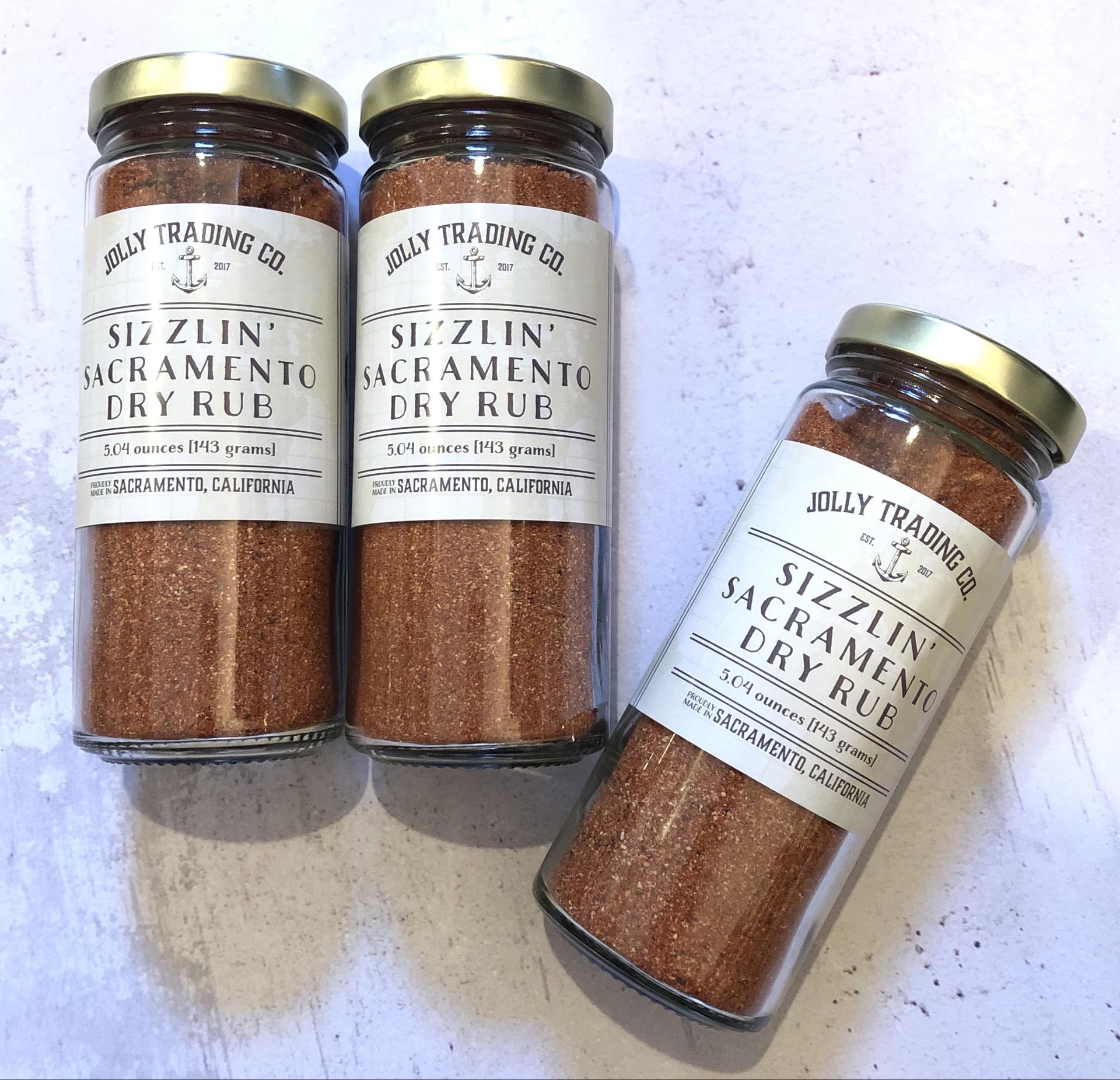Jolly Trading Co. Sizzlin' Sac Dry Rub, 5oz