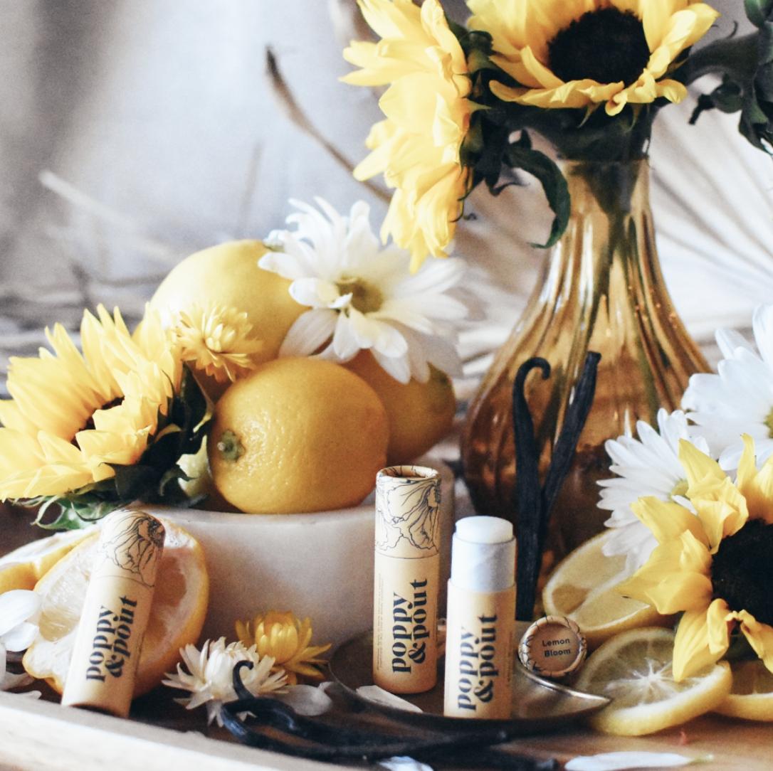 Lemon Bloom: Poppy & Pout Lip Balm