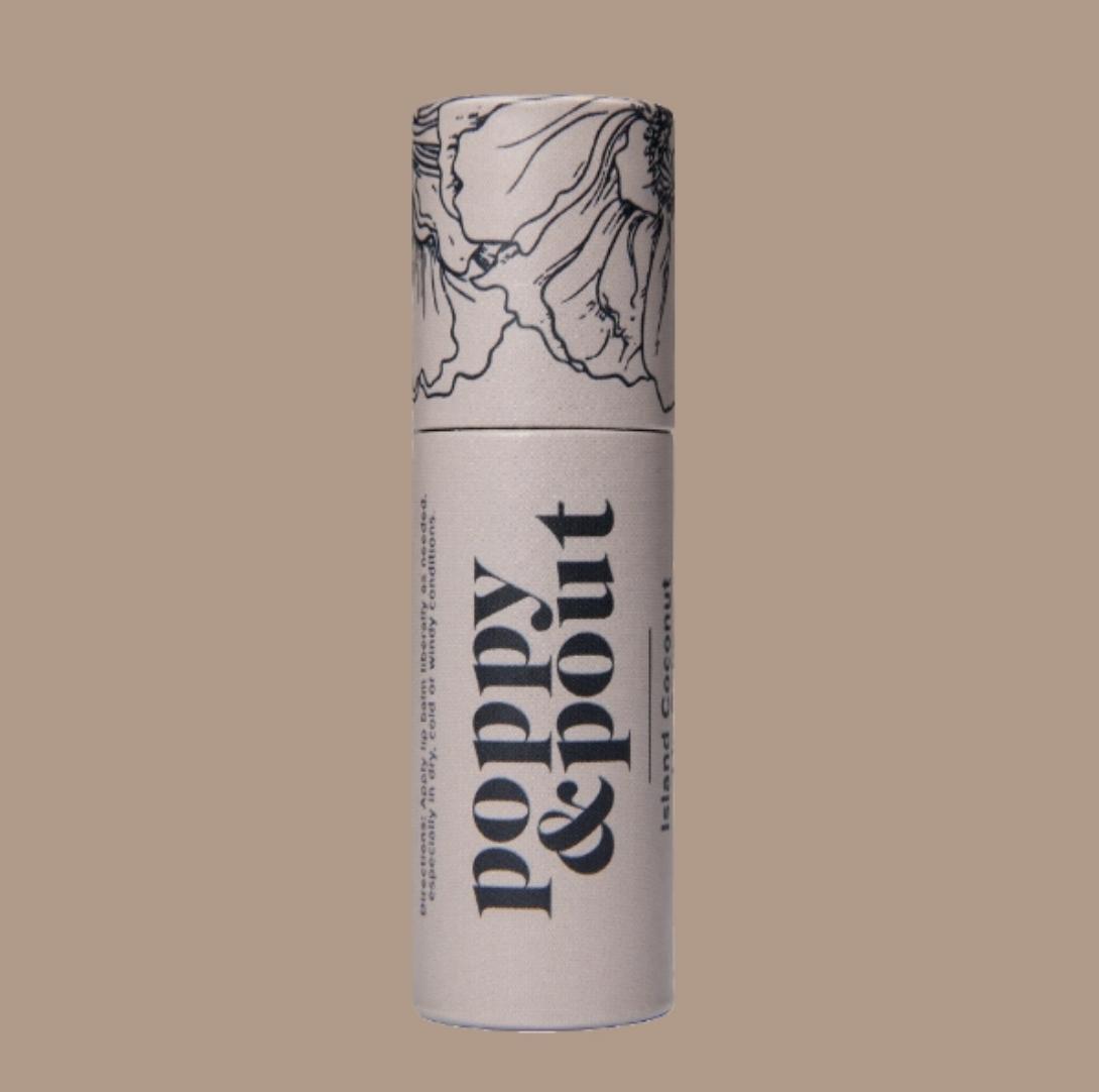 Island Coconut: Poppy & Pout Lip Balm