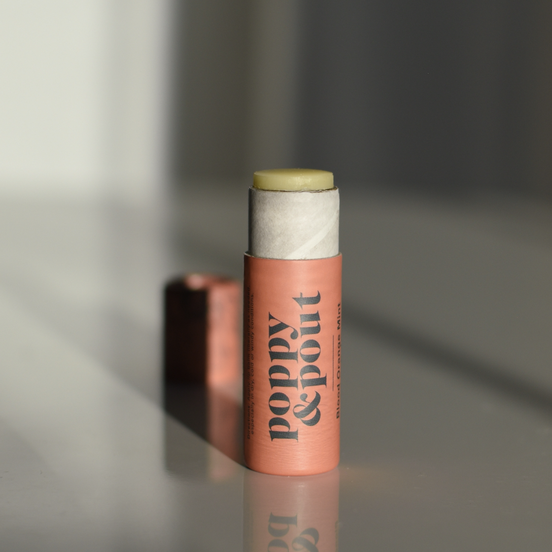 Blood Orange Mint: Poppy & Pout Lip Balm