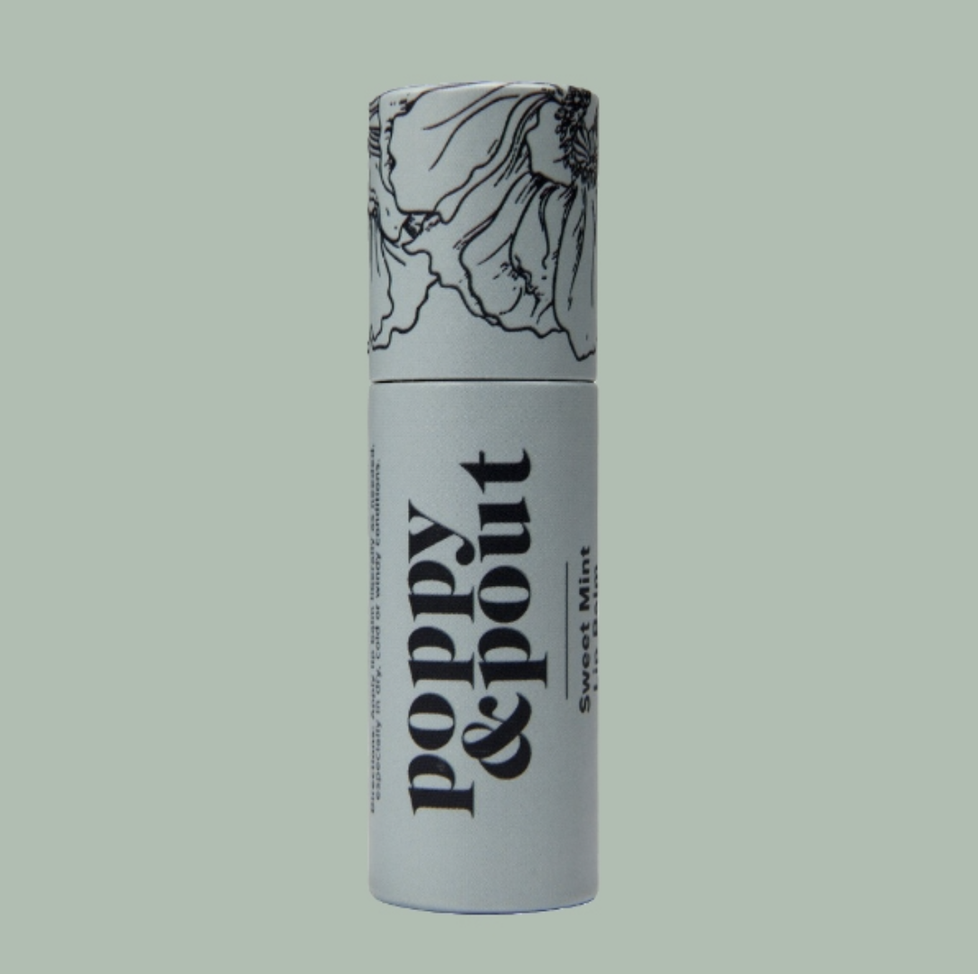 Sweet Mint: Poppy & Pout Lip Balm