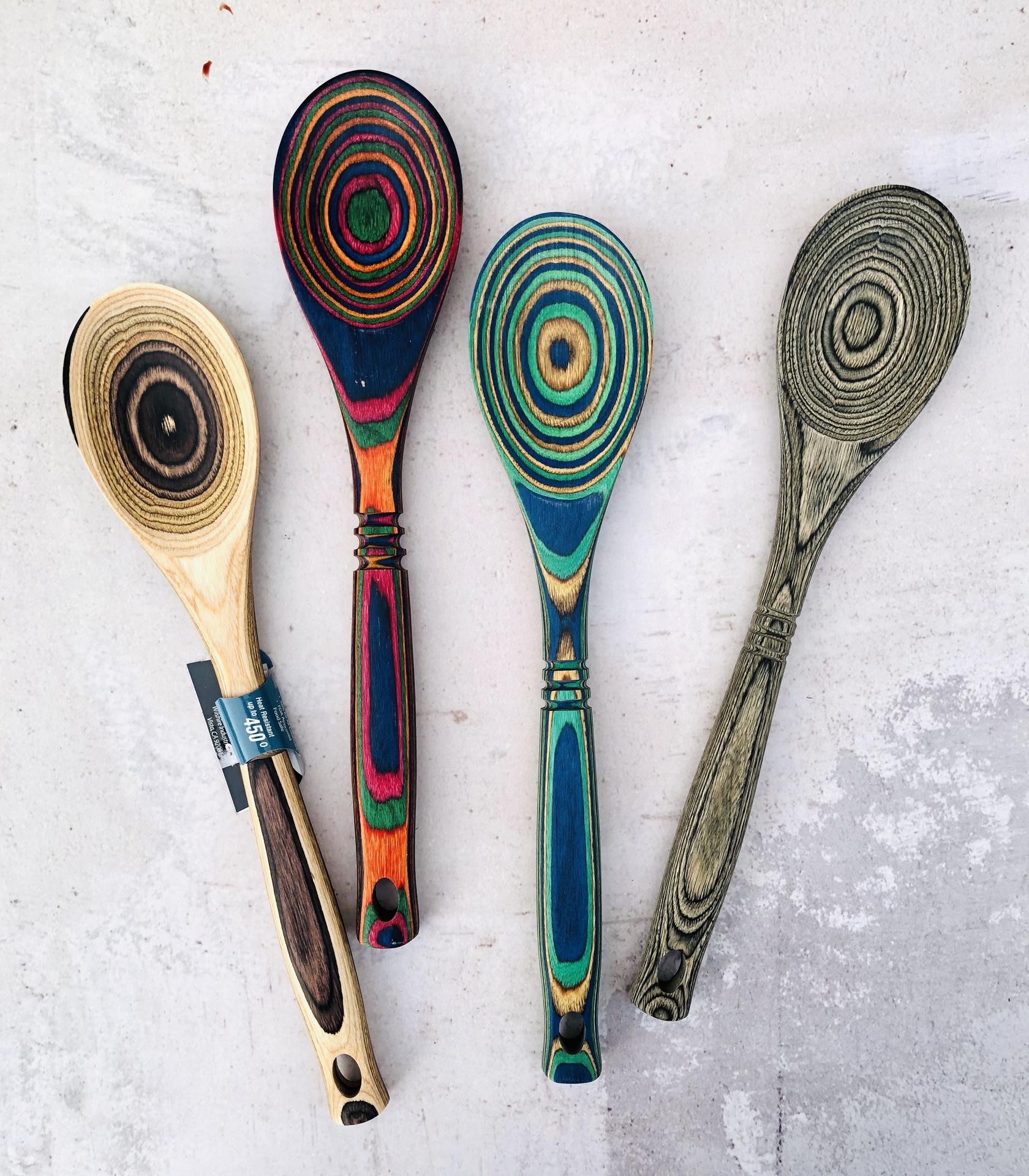 """Pakkawood Spoon, 12""""--CHOOSE COLOR"""