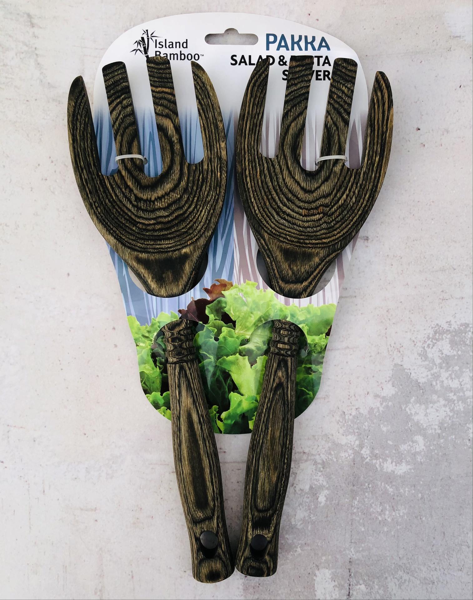 Pakkawood Salad/Pasta Servers, set/2--CHOOSE COLOR