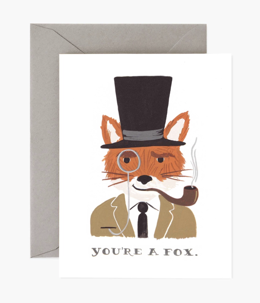 """""""You're a Fox,"""" Rifle Paper Co. Blank Greeting Card"""