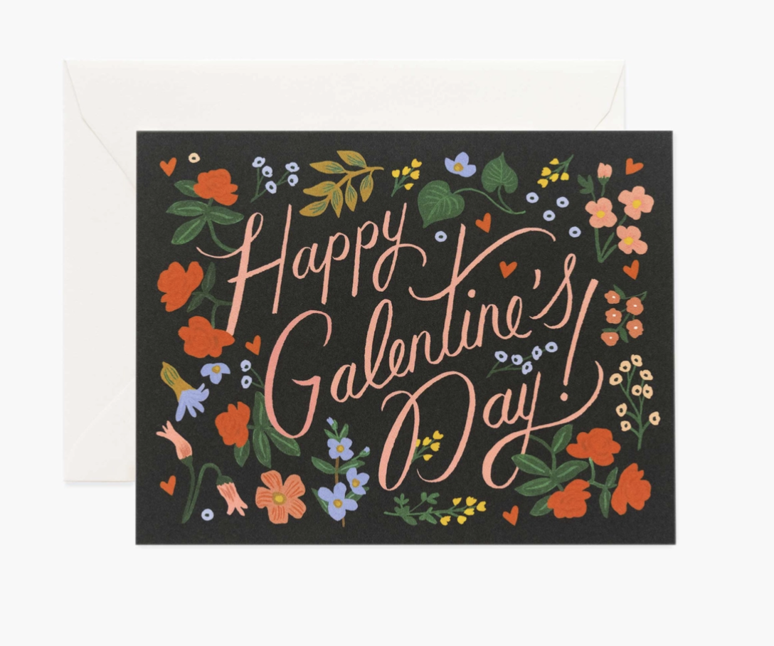 """""""Happy Galentine's Day,"""" Rifle Paper Co. Blank Greeting CardBlank Greeting Card"""