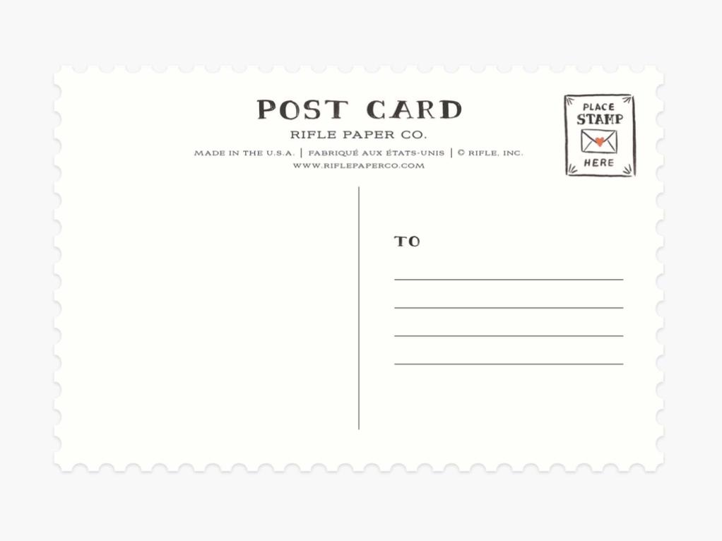 Rifle Paper Co. Valentine Postcards/set 12 assorted