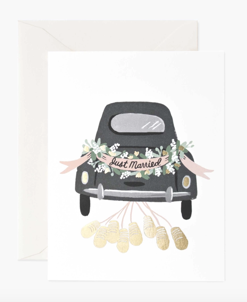 Just Married Getaway, Blank Rifle Paper Co. Greeting Card
