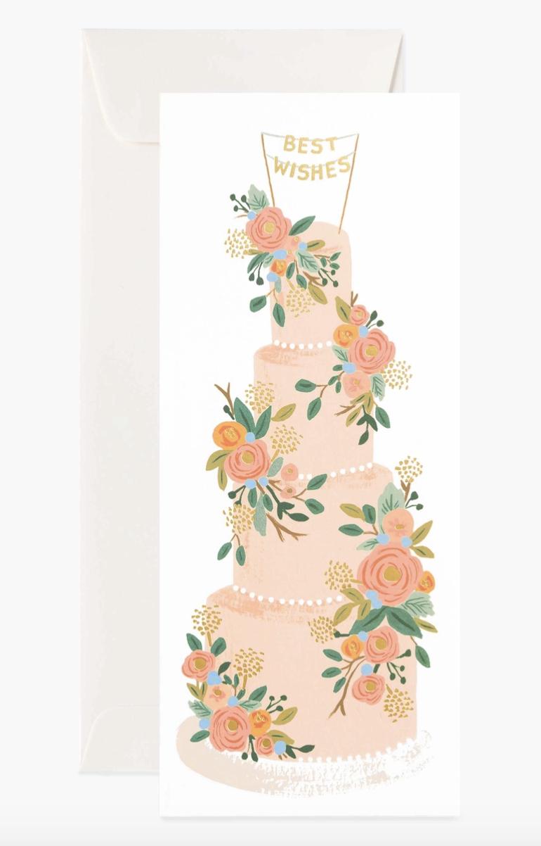 Tall Wedding Cake, Rifle Paper Co. Blank Greeting Card