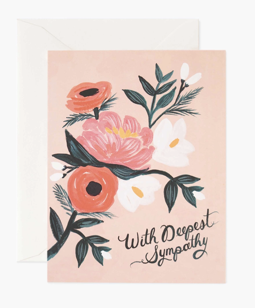 """""""With Deepest Sympathy,"""" Rifle Paper Co. Blank Greeting Card"""