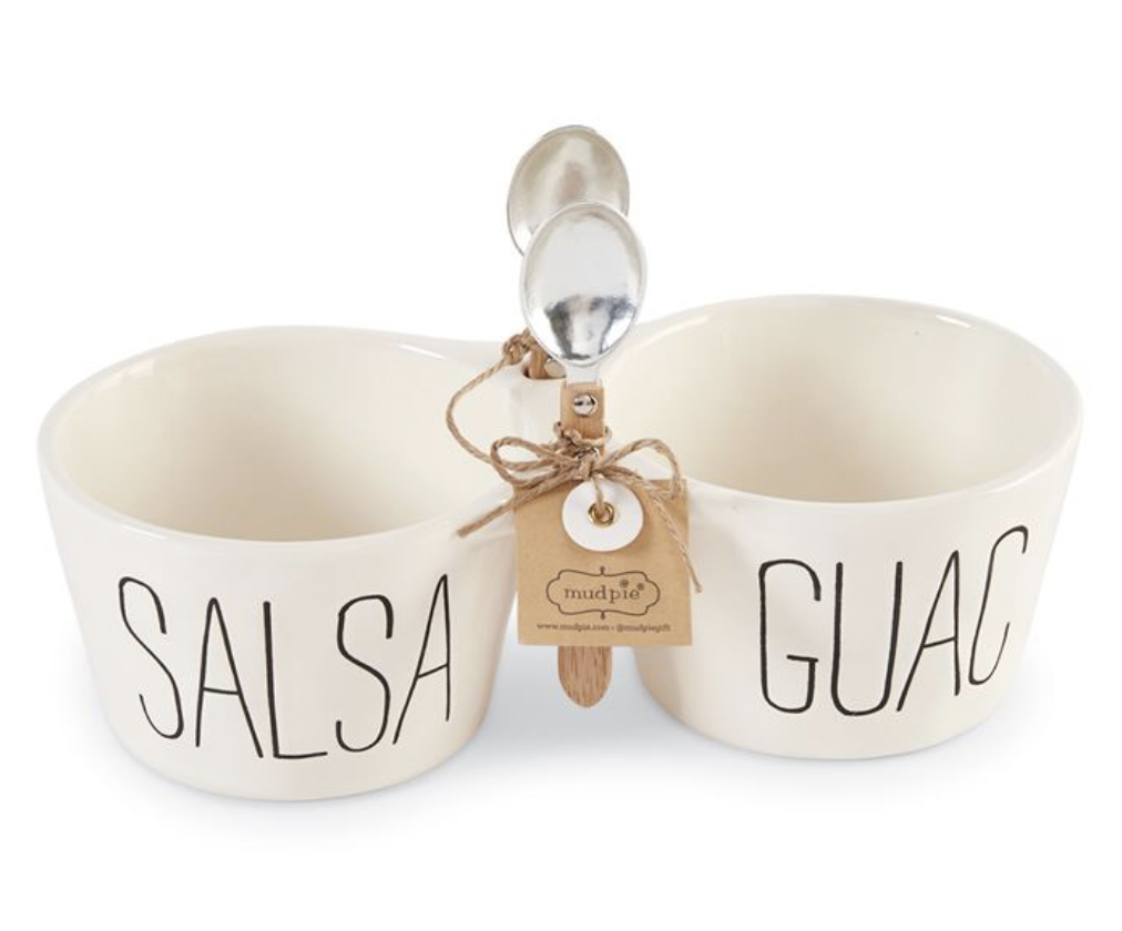 Salsa & Guac Double Dip Set with Spoons