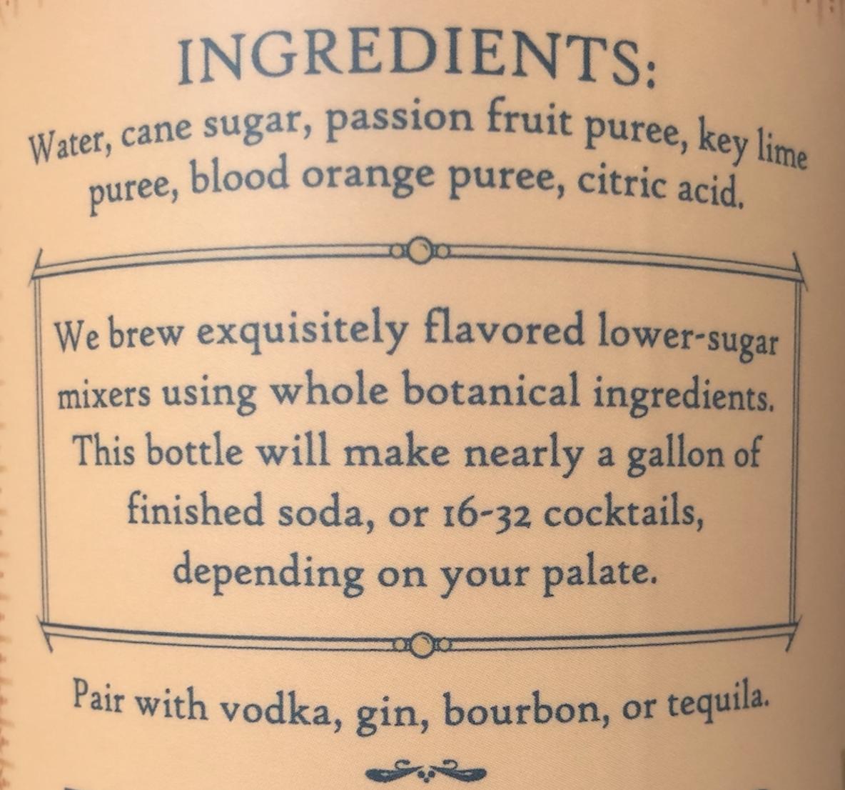 Citrus Passion Fruit: Cocktail & Soda Syrup, 12oz