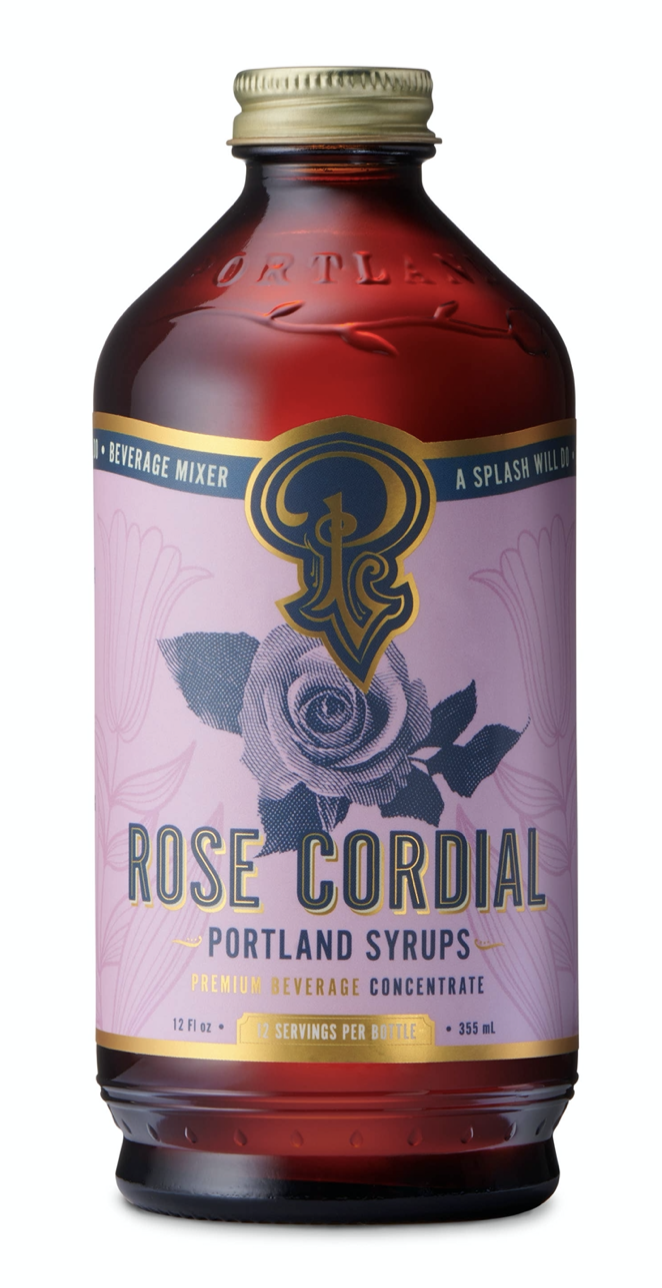Rose Cordial: Cocktail & Soda Syrup, 12oz