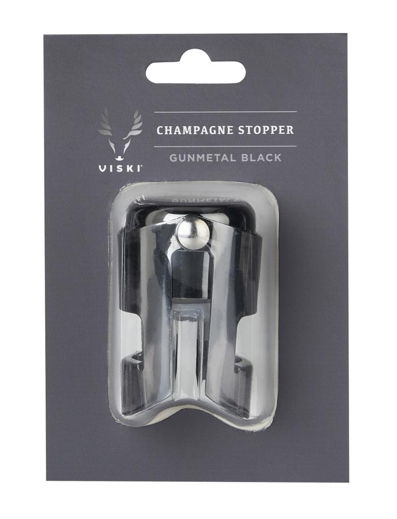 Gunmetal Black Champagne Stopper