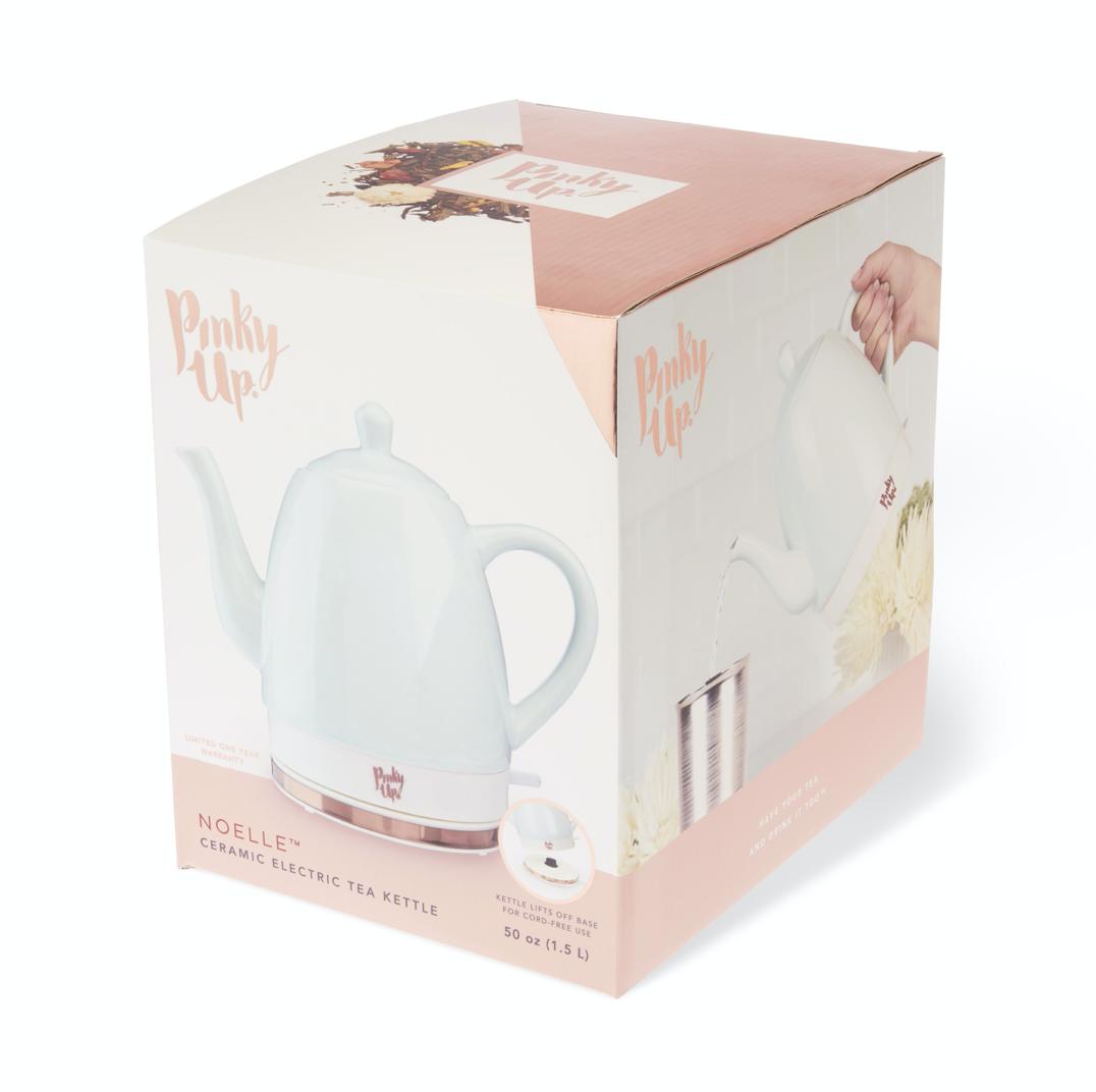 Noelle Ceramic Electric Kettle, Glossy Mint