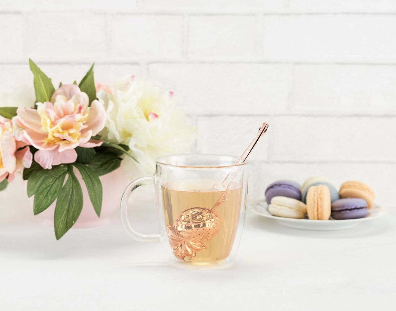 Gold Rose Pineapple Tea Infuser