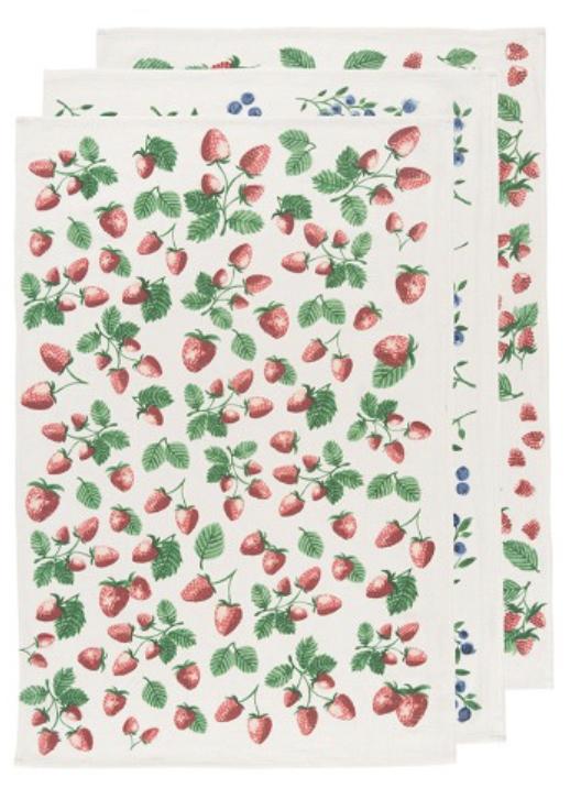 Berry Patch Floursack Towels, set/3
