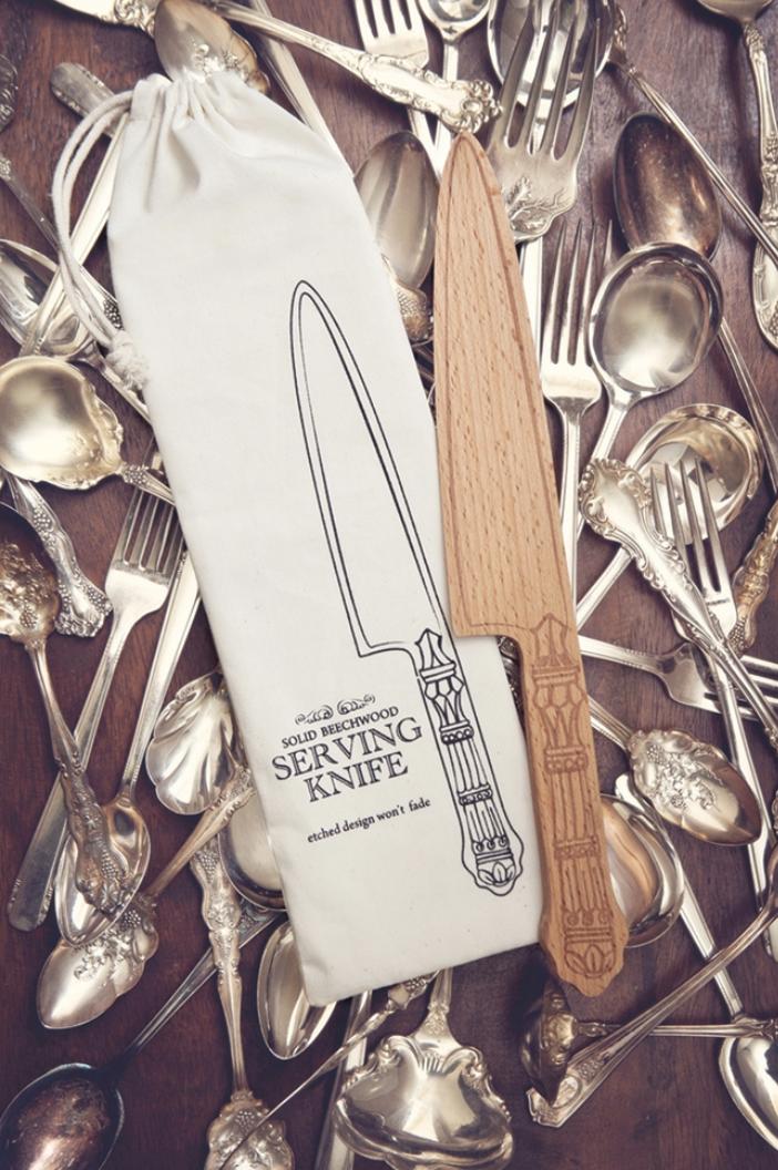 "Beechwood Serving Knife, 12"""