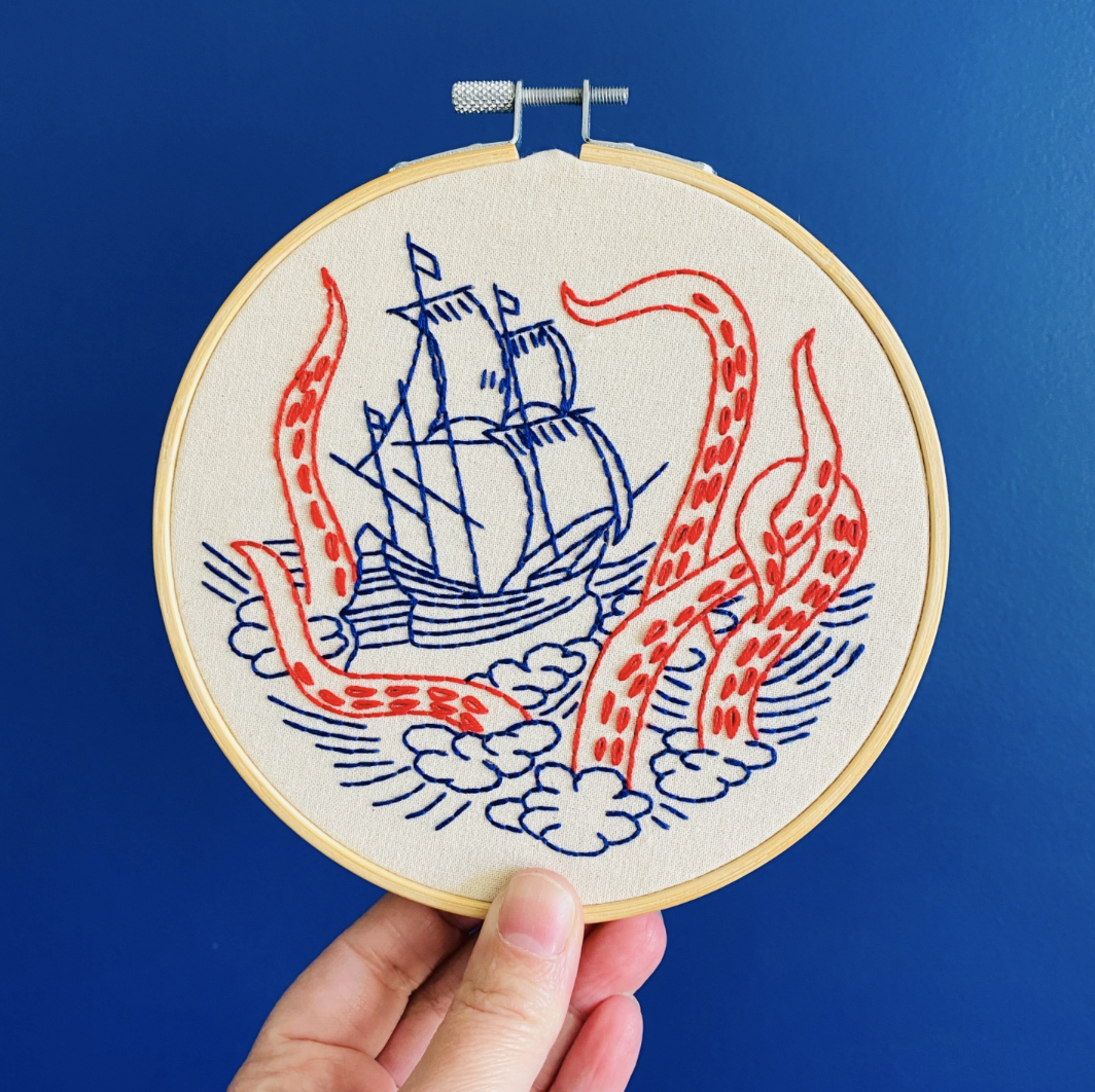 Release the Kraken Embroidery Kit