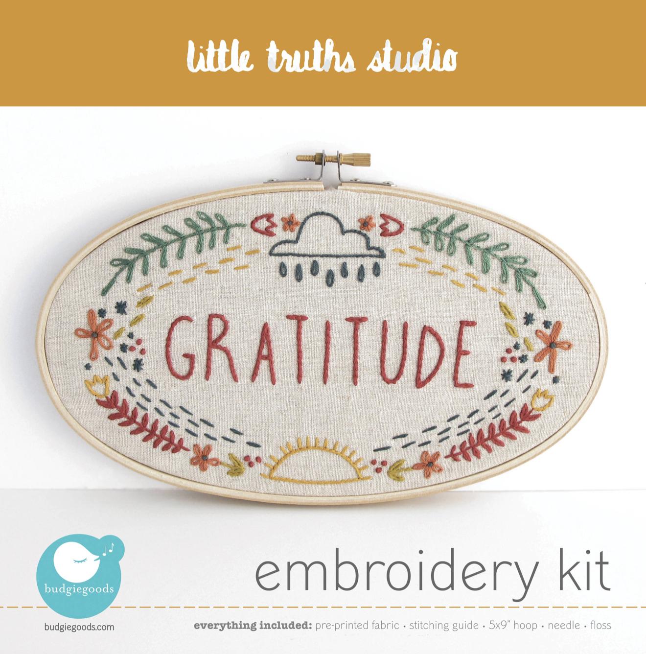 """Gratitude"" Embroidery Kit"