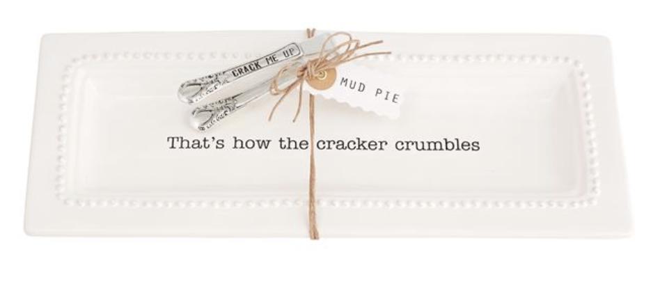 Circa Cracker Dish and Tong