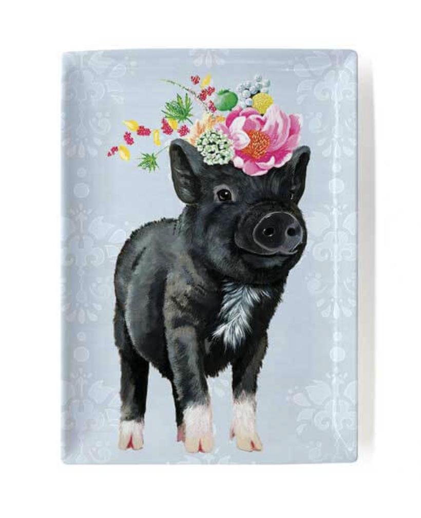 "Showing Off Piggie Decorative Dish, 5""x7"""