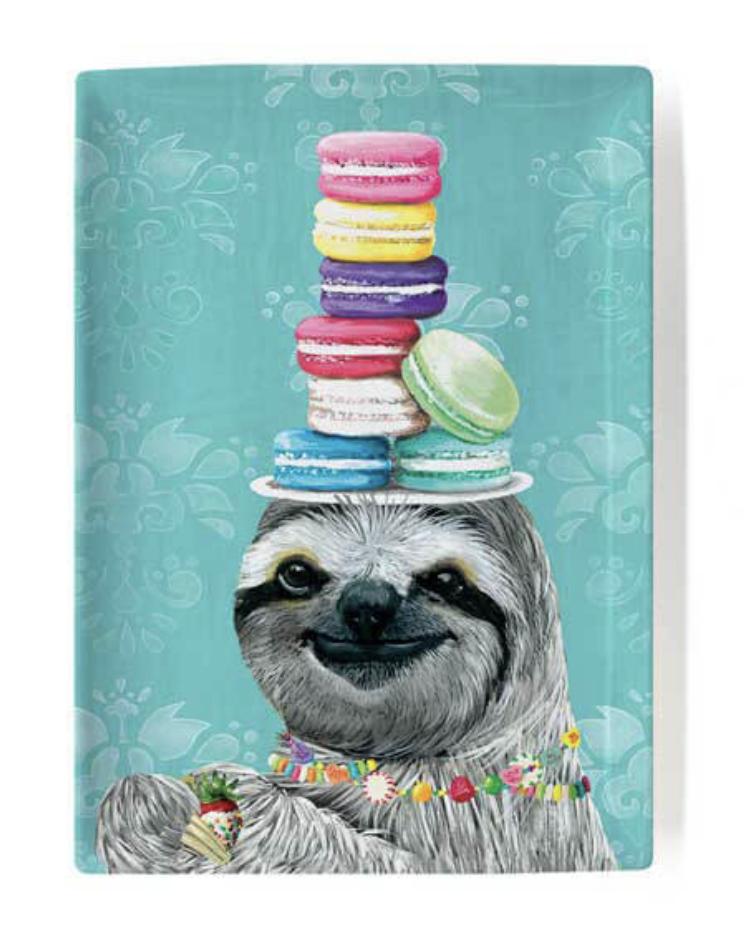 "Snack Sloth Decorative Dish, 5""x7"""