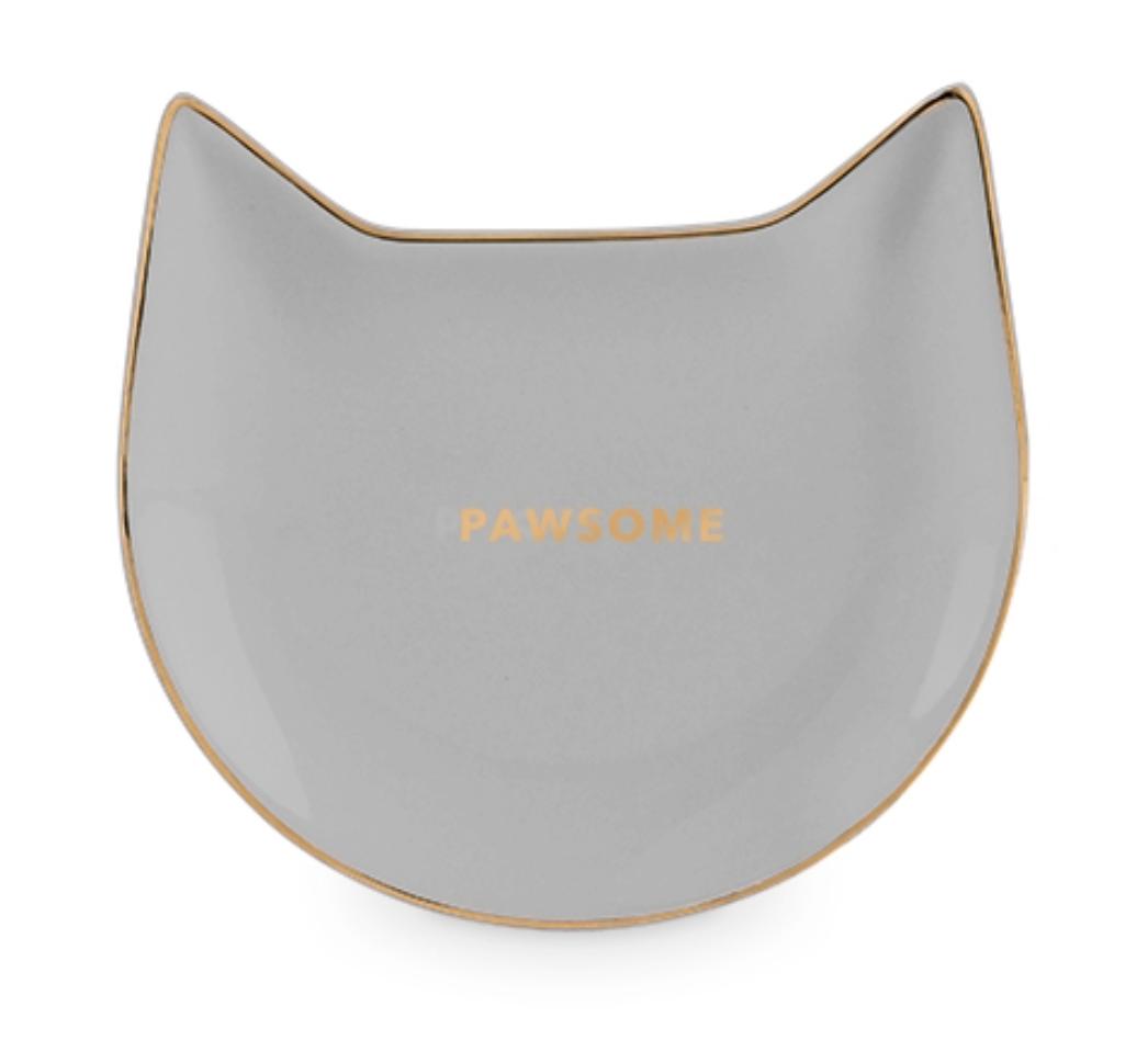 Ceramic Cat Tea Tray/Trinket Dish--CHOOSE COLOR/DESIGN