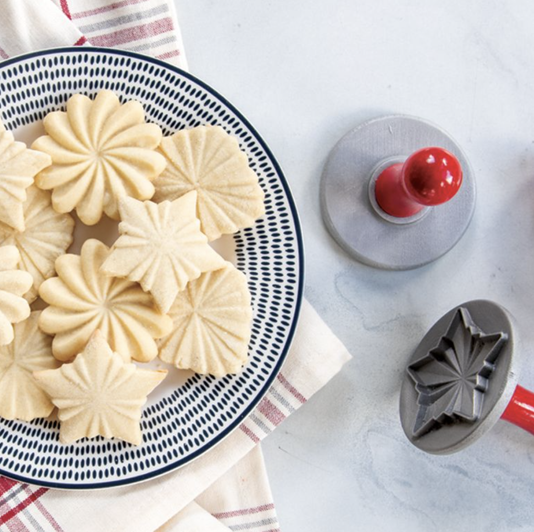 Pretty Pleated Cookie Stamps, set/3