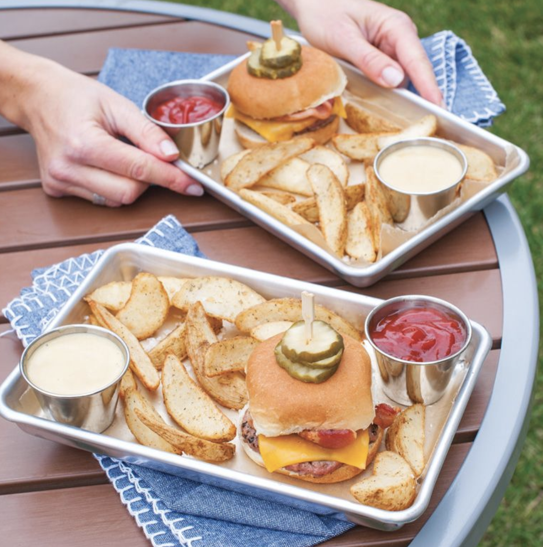 2-Pack Burger Tray, set/2