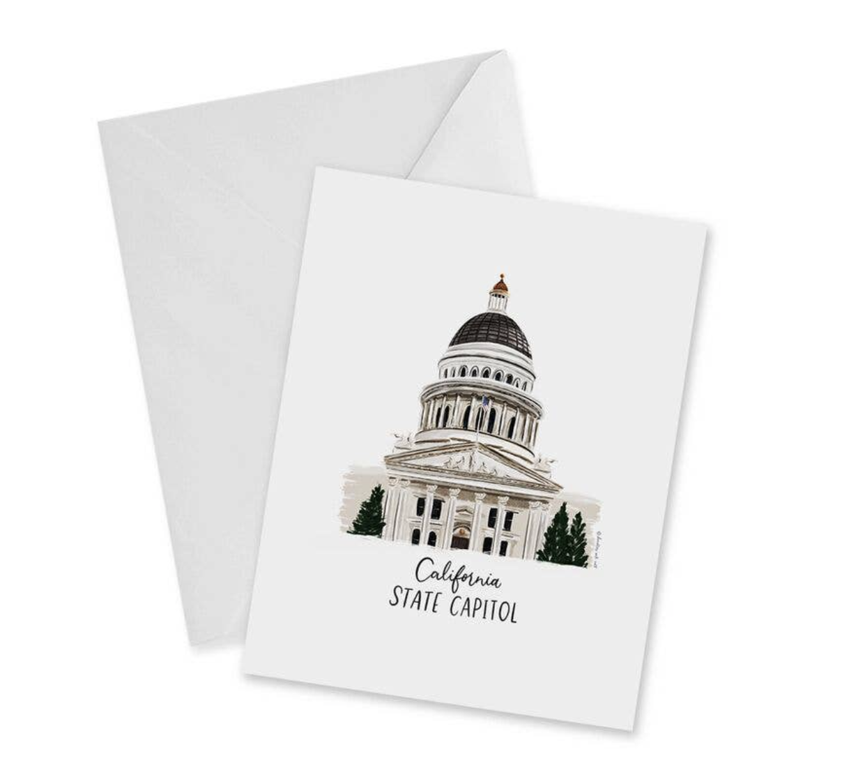 California State Capitol, Blank Greeting Card