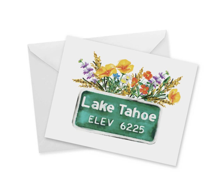 Lake Tahoe Elevation 6225, Blank Greeting Card