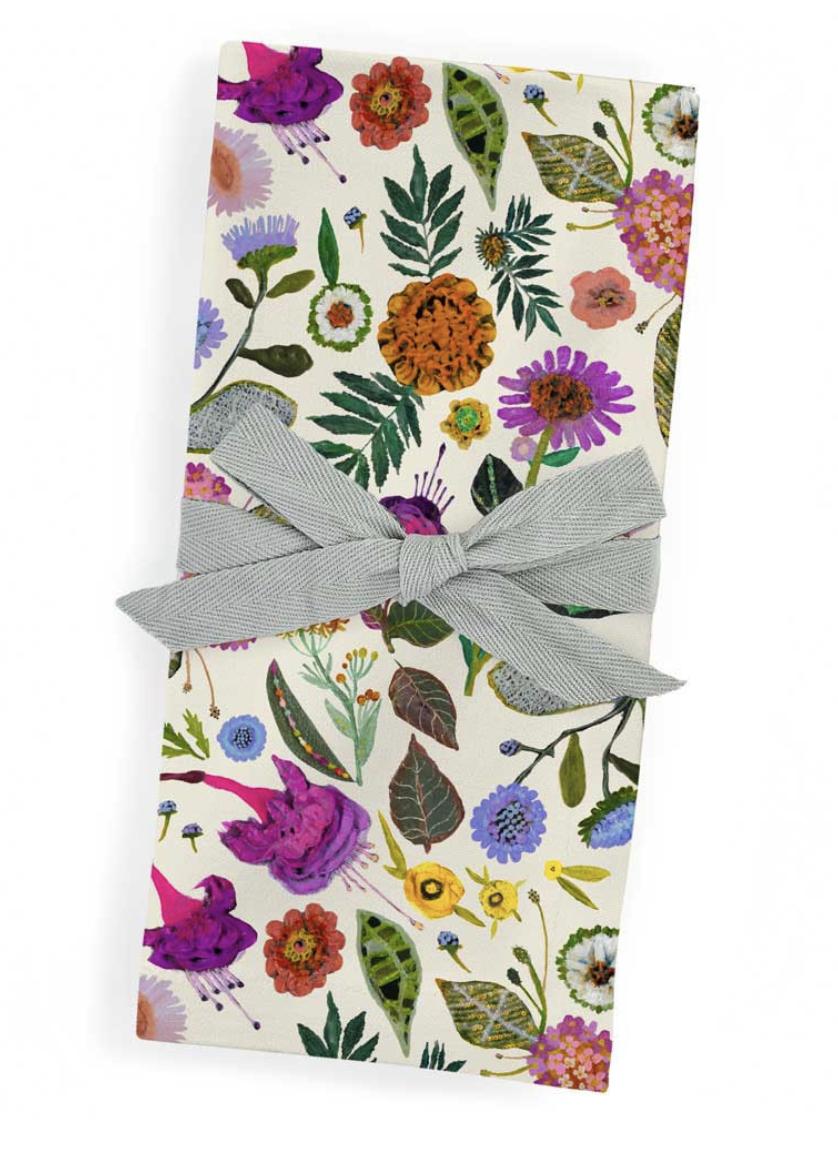 Cloth Napkins, set/4: Wildflowers