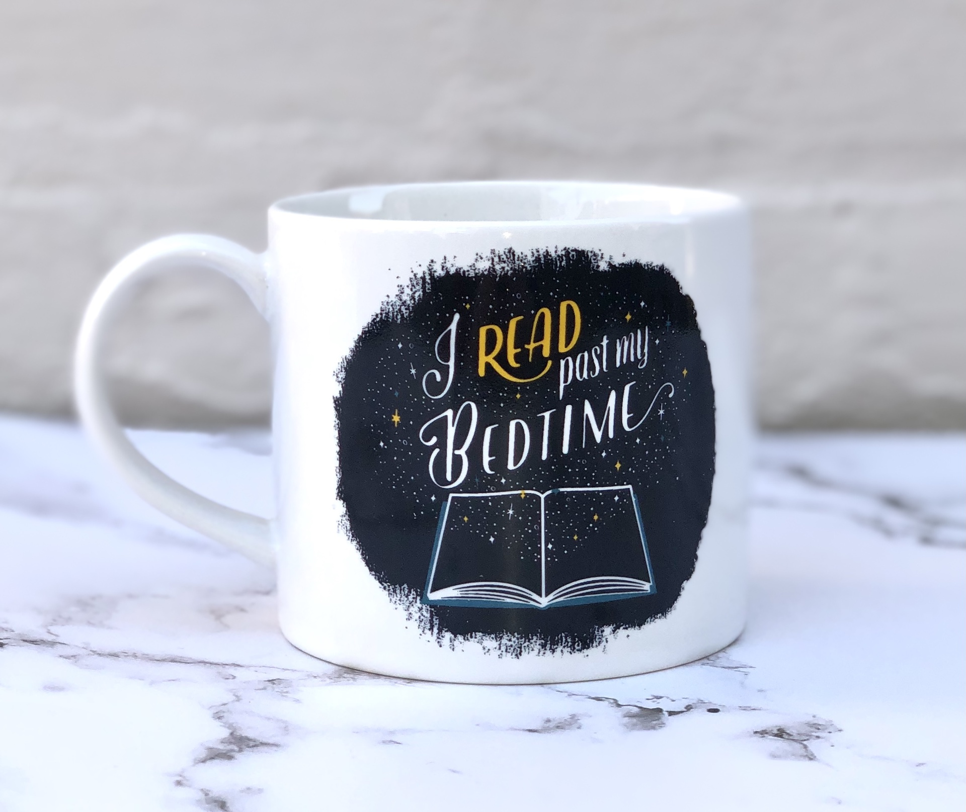 """I Read Past My Bedtime"": Mug in a Box"
