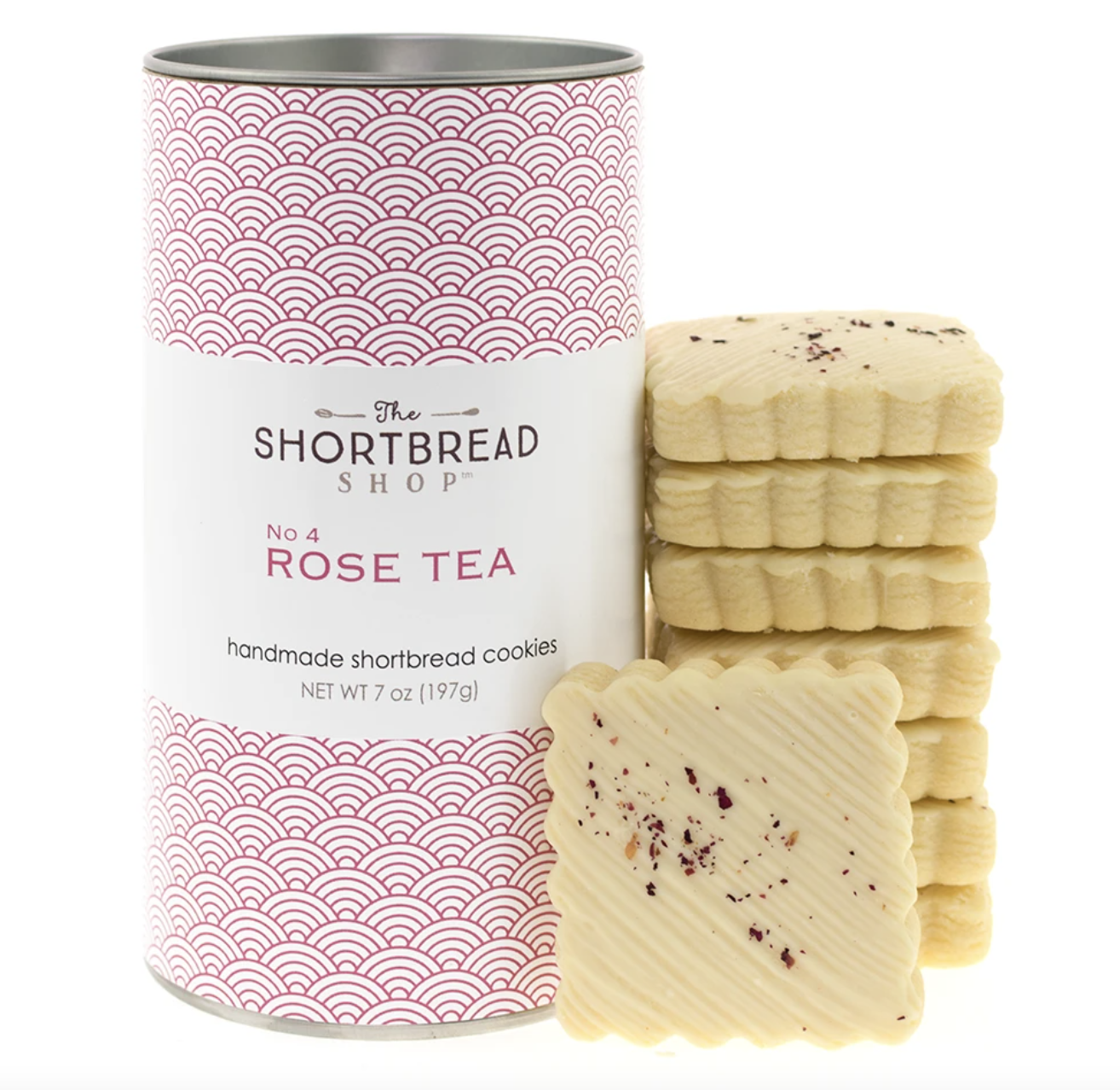 The Shortbread Shop No. 4: Rose Tea Handmade Shortbread Cookies--CHOOSE SIZE