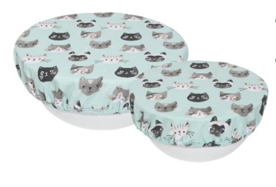 Cats Meow Bowl Cover, set/2