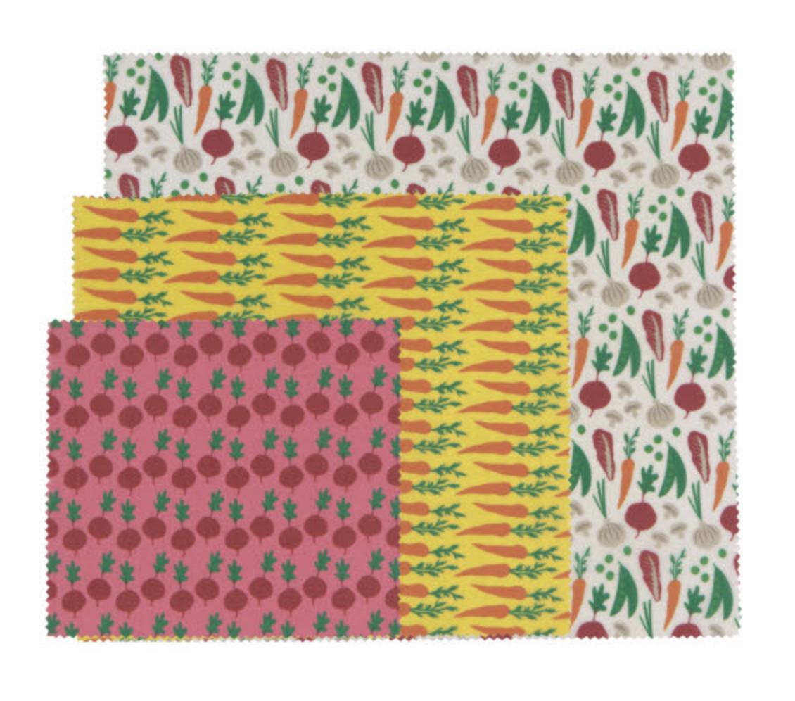 Now Designs Beeswax Wrap, set/3--CHOOSE DESIGN
