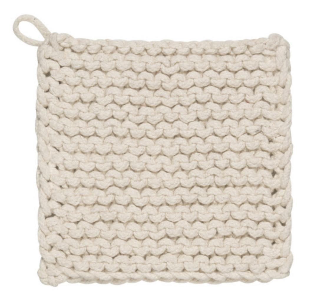 Chunky Knit Potholder--CHOOSE COLOR