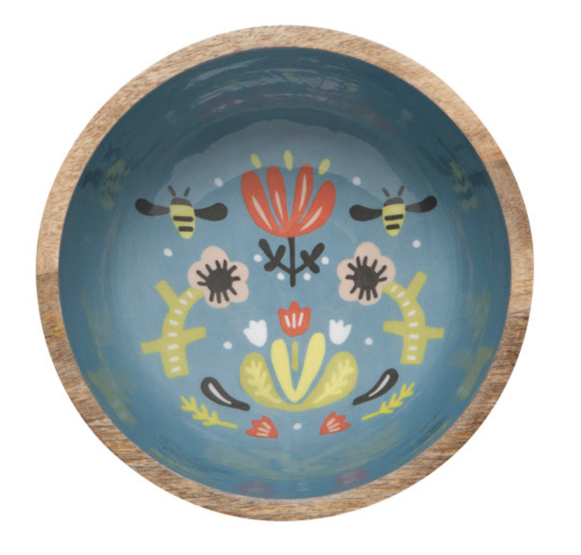 Frida: Mangowood Serving Bowl