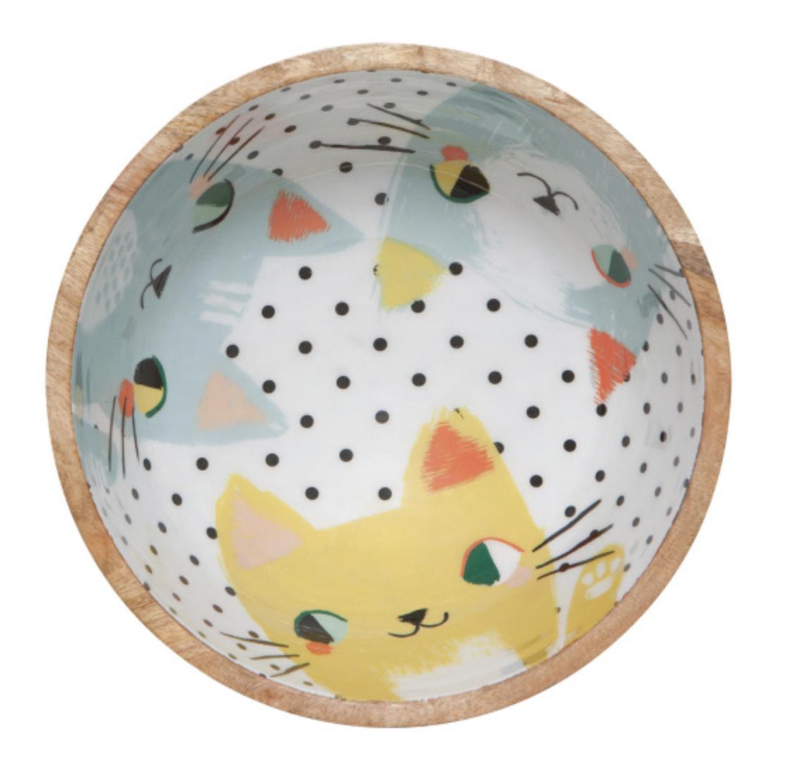 Meow Meow: Mangowood Serving Bowl