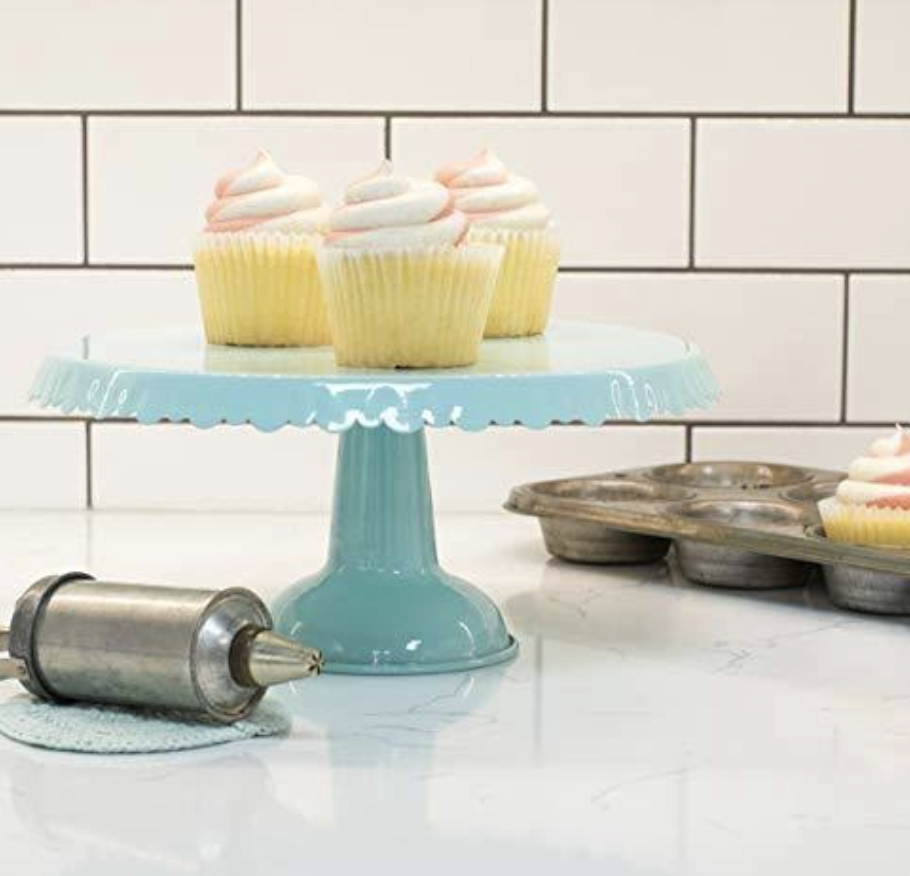 Retro Tin Cake Stand--CHOOSE COLOR