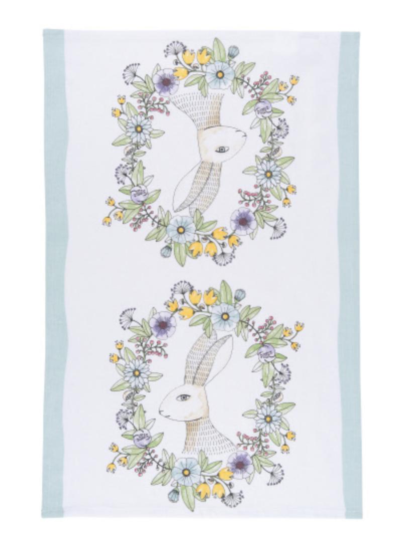 Spring Hop Tea Towel