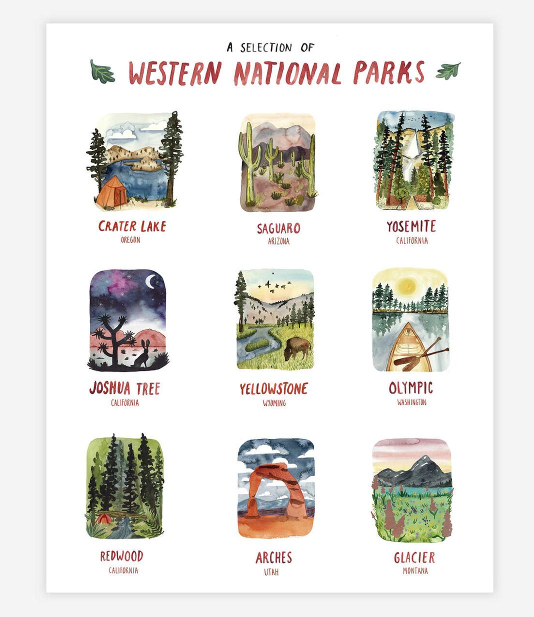 "Western National Parks, Art Print 11""x14"""