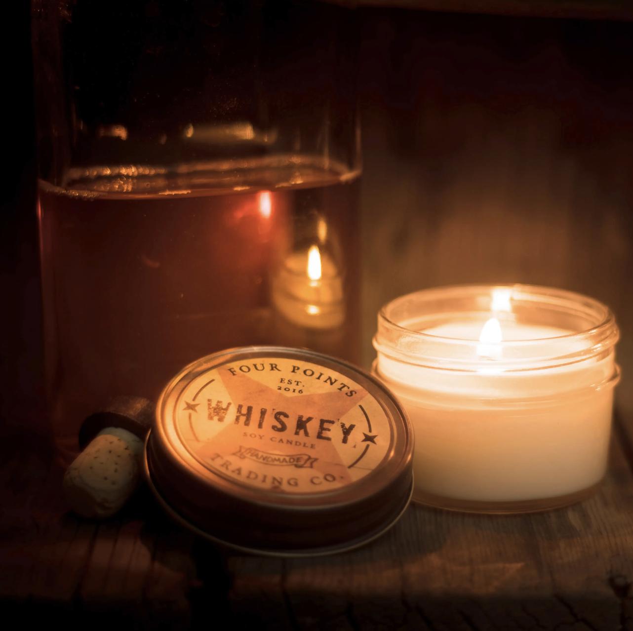 Whiskey, 4oz Soy Candle