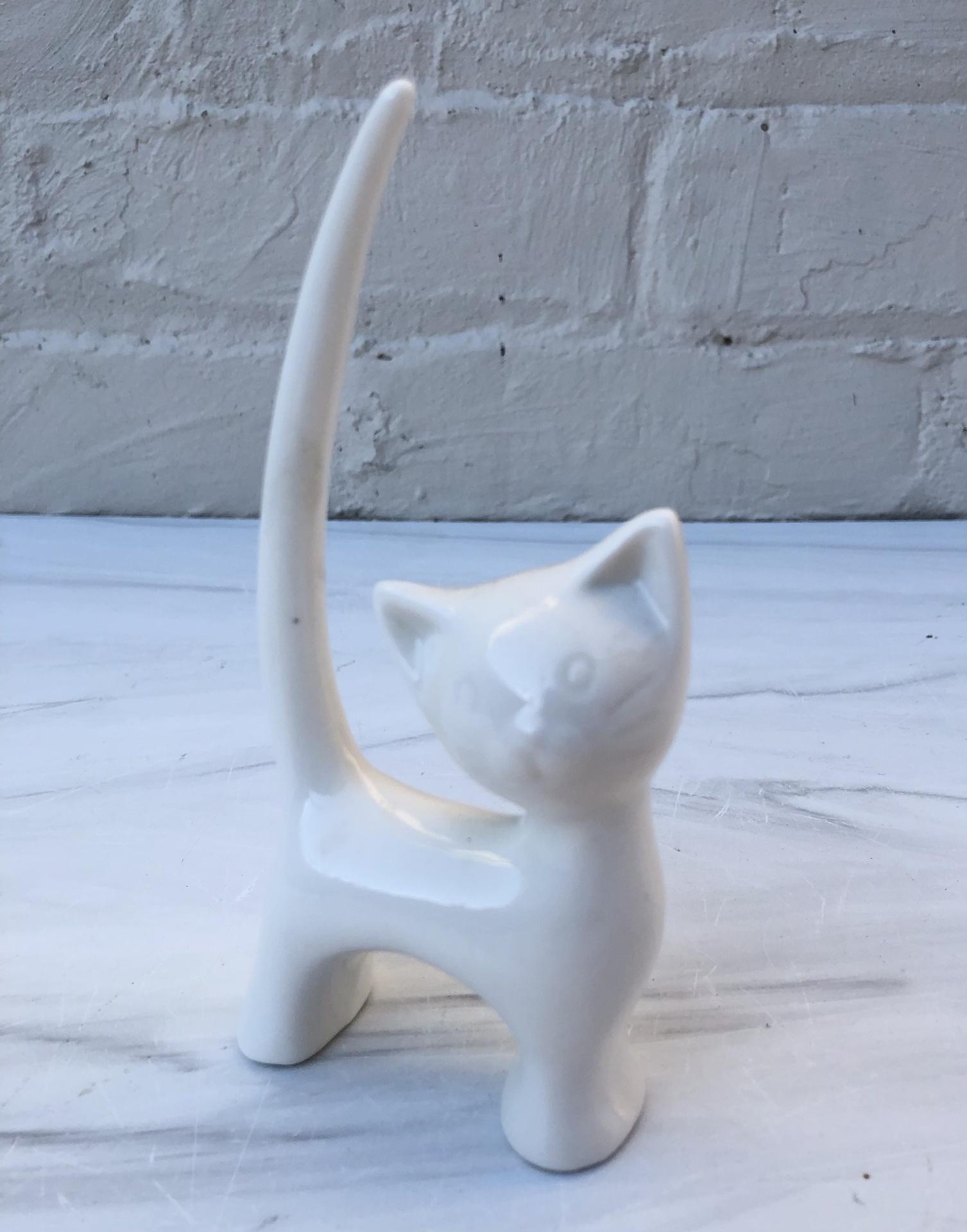 Ceramic Cat Ring Holder