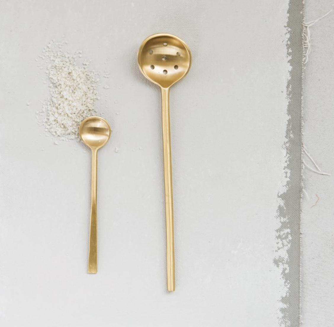 """Brass Spoon, 4.75"""""""