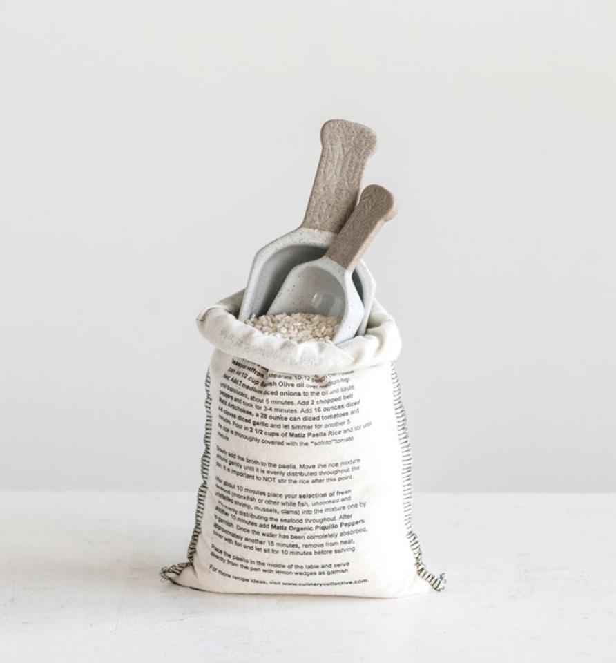 Porcelain Scoop--CHOOSE SIZE