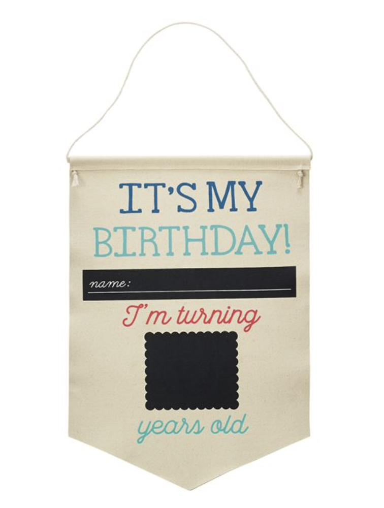 Birthday/School Canvas Banner