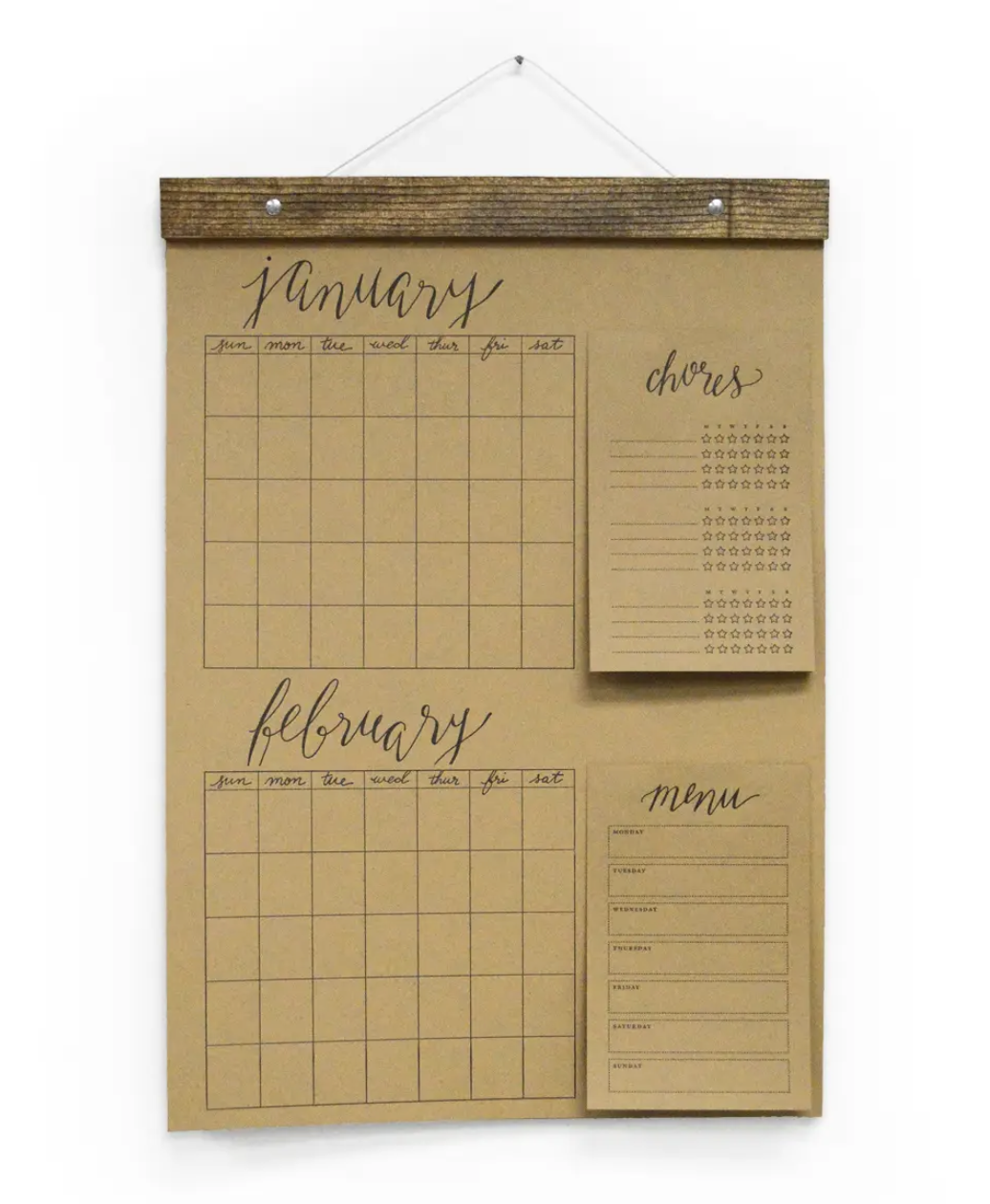 """""""Groceries"""" Sticky Notepad--For Big Write-In Calendar"""