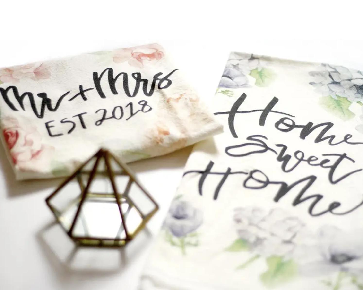 """Home Sweet Home"" Honey Brush Design Tea Towel"